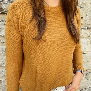 Madewell mustard knit pullover sweater